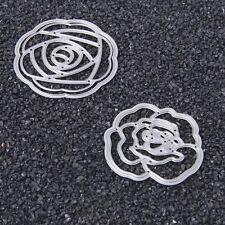 2pc Flowers Cutting Dies Stencils DIY Scrapbook Album Embossing Card Paper Craft
