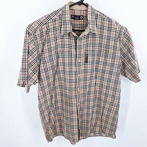 Raider Jeans Men's Short Sleeve Button Up Shirt Size L
