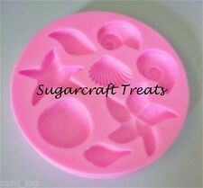 Sea Shells Star Fish Silicone Mould Sugarcraft Cup Cake Chocolate Ice