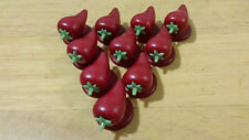 Chef Jacket Buttons, Chilli, Red, 20 Buttons