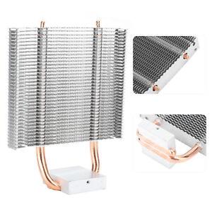 2 Heat Pipe Chipset Cooling Fan Motherboard Cooler Heatsink Fr Desktop PC TDM