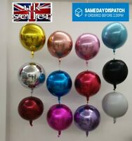 22in Orbz Round Foil Helium Sphere Balloon 4D All Party Events Super Shiny Ball