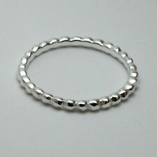 Solid 925 Sterling Silver Midi Ring (Above Knuckle) Beaded Stacking New Gift Bag