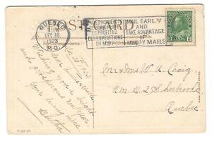 1923 Canada - Quebec, Quebec Bilingual Mail Early Slogan Cancel Postcard