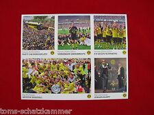 Panini Dortmund sammelt Echte Liebe BVB 6 Extra Sonder-Sticker Update Bogen