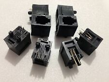 25 PCS RJ9 4P4C 180 ° PCB Telephone Handset environmental Jacks Sockets