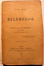 BENDA/BELPHEGOR/ESSAI SUR L ESTHETIQUE/1918/ EO