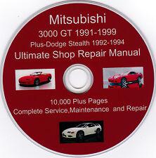 Mitsubishi 3000 GT 1991 -1999 ULTIMATE SERVICE SHOP Repair & MAINTENANCE MANUAL