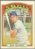 1972 Topps Baseball #763 SP Ron Hansen Kansas City Royals High Number Card