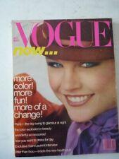 Magazine mode fashion VOGUE US october 1978 Gia Carangi