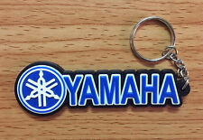 YAMAHA Keychain Rubber Motor Racing Keyring Blue Color Motorcycle Gift New