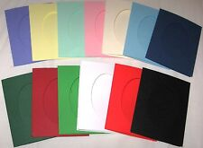 Aperture cards  Oval  3 fold with env A6 YOU PICK COLOURS & PACK SIZE