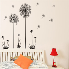 Dandelion Flowers Wall Stickers Art Home Living Room Removable Mural Decals DIY