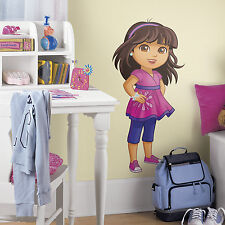 "DORA THE EXPLORER Wall Stickers Mural 12 BIG Decals 38"" Tall with GEMS included"