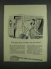 1943 Bristol-Myers Mum Deodorant Ad - I'm Going Home to Father