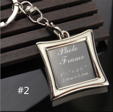 New fashion gift metal heart photo frame love key ring ring keychain holder !!!