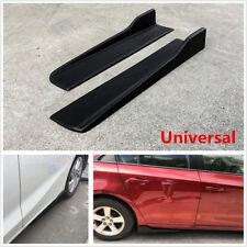 2x Universal Car Side Skirt Rocker Splitters Winglet Wings Anti-scratch Diffuser