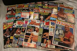 Wrestling Magazine Lot of 24 1985-1989  HOGAN