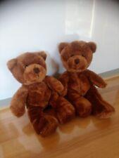 Lot de 2 adorables peluches doudou ours marron brun minifeet 20 cm état neufs