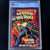 MARVEL SUPER-HEROES #13 💥 8.0 WHITE PG CBCS 💥 1ST CAROL DANVERS Captain Marvel