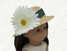6 Inch Lace Doll Hat 3 Piece Lot White 02206831
