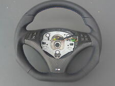 PART EXCHANGE Flattened Leather steering wheel BMW M-POWER E90, E91 NEW - FRAME