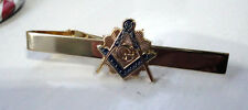ZP33a Masonic Masons Tie Pin Bar Freemason Square Compass Vintage Style