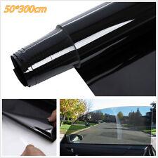 50X300cm Limo Black Car SUV Window Glass Tint Film Sunscreen AntiUV Sticker Roll