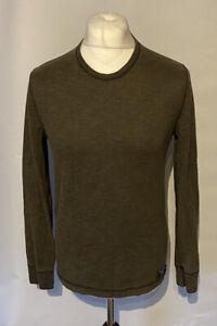 Abercrombie & Fitch Men's T Shirt Grey L/S Small 100% Cotton