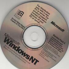 Microsoft WindowsNT Workstation & Server Operating System ~ Service Pack 3