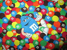 M And M Candy Friends Chocolate Treats Cotton Fabric FQ