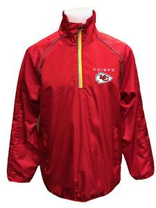 G-III Sports Kansas City Chiefs Men's Oxygen Half Zip Pullover Jacket, M-5XL
