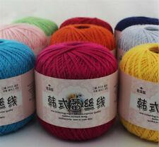 Thread pure Cotton Crochet Yarn Craft Tatting Hand Knit Embroidery 50grX1Ball