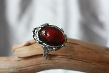 Baltic Amber Ring Sterling Silver 925 - Cognac, Green, Butterscotch, Cherry