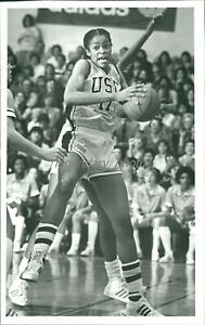 1984 Paula McGee USC Basketball Original News Service Photo