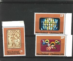 New Zealand 1976 Christmas Set MNH