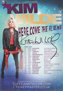 Kim Wilde HAND Signed Flyer, Autograph, Kids In America, Here Come The Aliens