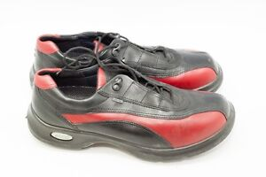 Ecco PGA Pro Golf Shoes Club Ladies Cleats Red Easy GTX Gore Tex Waterproof GC12