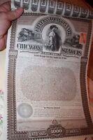 Chicago & Cleveland Cincinnati & St. Louis Railway Company $1,000 Gold Bond 1893