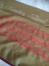 Rare Vintage CNR Canadian National Railway Sleeper Wool Blanket