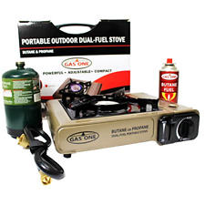 Propane or Butane Stove Dual Fuel Gas Stove Burner with Carrying Case Portable