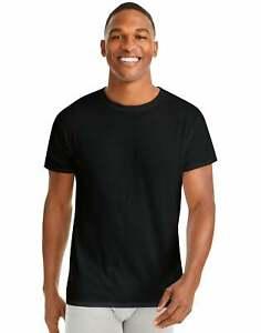 Hanes T-Shirt 6-Pack Men's ComfortSoft TAGLESS Crewneck Short Sleeve Tee Value