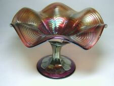 "FENTON ""PEACOCK TAIL"" LIGHT AMETHYST COMPOTE"