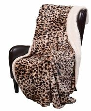 CHEETAH FAUX FUR 50x70 THROW : ANIMAL FAUX FUR SHERPA SAFARI WILDLIFE BLANKET