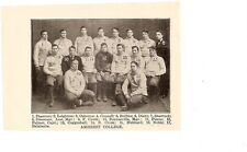 Amherst College Lord Jeffs 1904 Football Team Picture