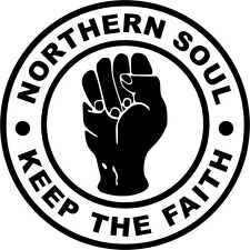 Northern Soul Keep The Faith Sticker Decal Wigan Casino Tamla Motown Mod Scooter