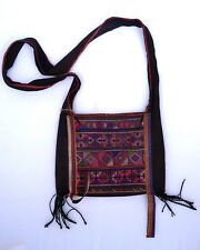 Hmong embroidered shoulder bag hill tribe textile hand made