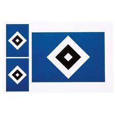 "AUFKLEBERKARTE 3-SET STICKER ""RAUTE"" AUFKLEBER  HAMBURGER SV HSV"
