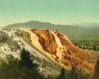 Jupiter Terrace at Yellowstone National Park Wyoming 1902 photochrom Photo Print
