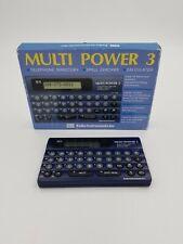 Seiko Multi Power 3 Telephone Directory Spell Checker Calculator w/ Box